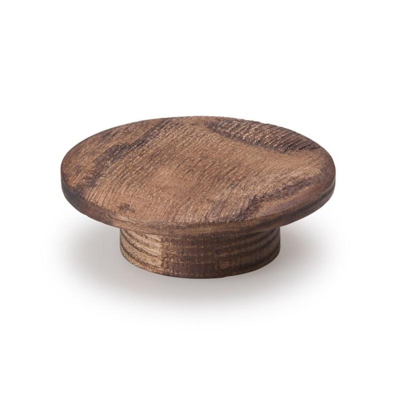 bouton de meuble circulaire bois fa on noyer. Black Bedroom Furniture Sets. Home Design Ideas