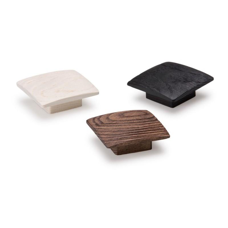 bouton de meuble balto 60x60 mm bois noir. Black Bedroom Furniture Sets. Home Design Ideas