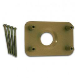 Contre-plaque pour verrous aux cotes NF, axe horizontal à 40 mm