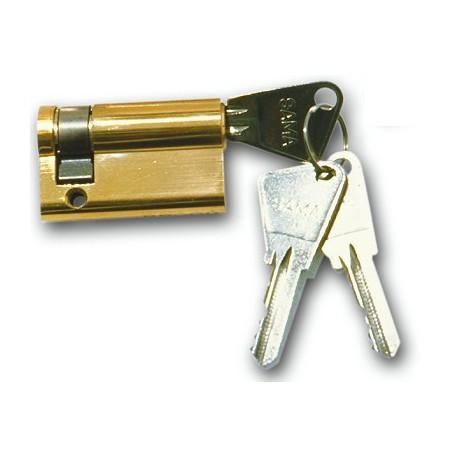 Demi-cylindre de 90 mm varié en laiton poli 3 clés laiton nickelé