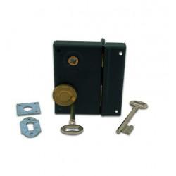 Sûreté à trou de cylindre façon gorge fouillot de 7 mm, noire G