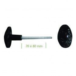 Bouton de portail orné noir 6X110 mm