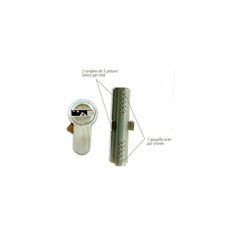 cylindre haute s curit de 60 mm 30x30 vari laiton. Black Bedroom Furniture Sets. Home Design Ideas