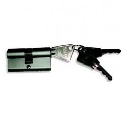 Cylindre de 60 mm varié, en laiton chromé satiné 3 clés laiton nickelé