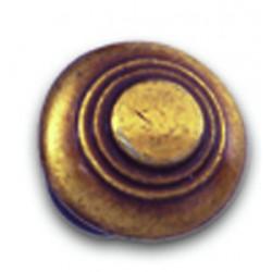Bouton de meuble rustique finition vieux bronze D30 mm