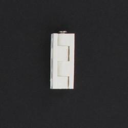 Charnière universelle à pans, nylon blanc 40 mm lot de 3