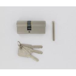 Cylindre de 80 mm (30x50) s'entrouvrant sur série A, en aluminium argent 3 clés