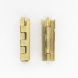 Charnière universelle acier dorée coudée de diamètre 12x50 mm de hauteur