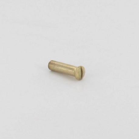 Douille tête fraisée bombée pour vis M4x20 mm fendue laiton poli lot de 24