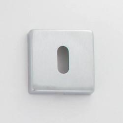 Rosaces EPUR1 chromée & satinée duo 50X50 mm à trou de clé L