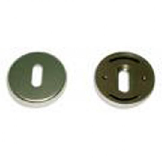 Rosaces aluminium D48 à trou de clé L anodisée argent