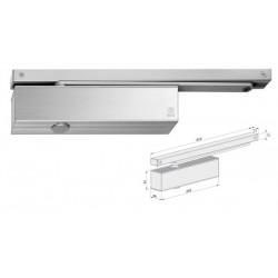 Ferme-porte à bras grande glissière, acier grise EN1154 force 1 à 4