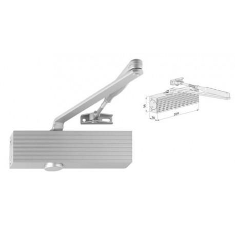 Ferme-porte bras compas reversible coupe-feux force 1 à 2 gris