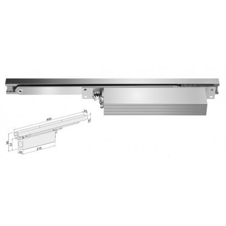 Ferme-porte encastrable à glissière, en aluminium EN1154