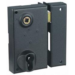 Sûreté en applique verticale à trou de cylindre fouillot de 7 mm, noire G