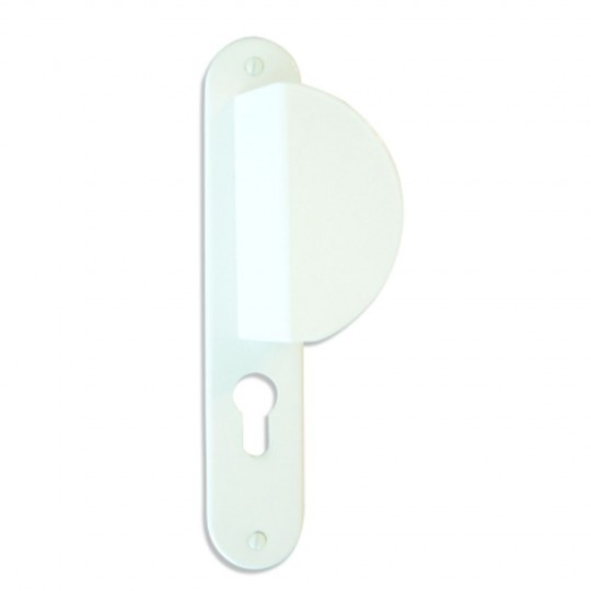 Poignées ROTONDA2 alu laqué blanc à trou cylindre i 220X40 mm paliere