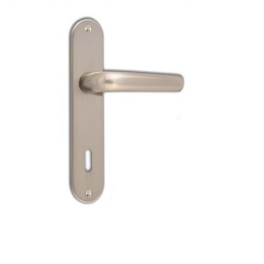 Poignées LINEA trou clé L 185X38 mm alu façon inox satiné