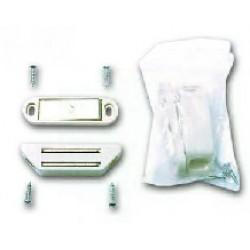 Loqueteaux magnétiques blancs force 6 kg lot de 8 (4x2)