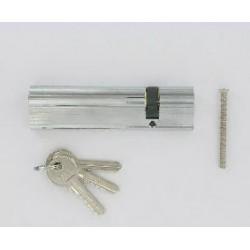 Cylindre de 160 mm (30x130) varié en chromé satiné 3 clés laiton nickelé