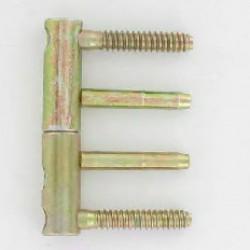 """Fiche plate réglable """"3D"""" D14X82 mm, en acier bichromaté lot de 4"""