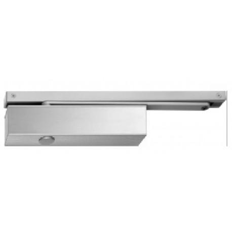 Ferme-porte à bras grande glissière, en acier gris