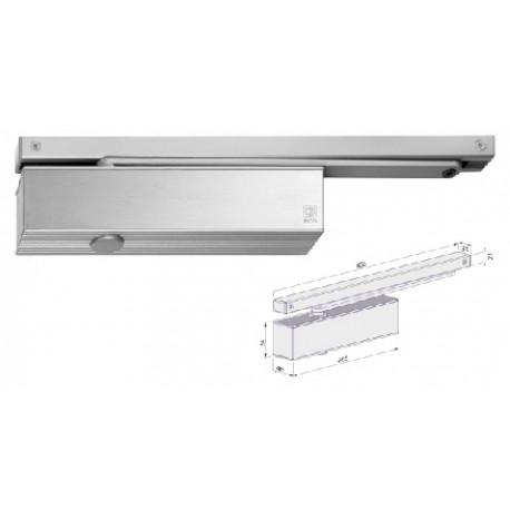 Ferme-porte à glissière, aluminium blanc force 1 à 4