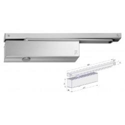 Ferme-porte à glissière, en aluminium blanc EN1154
