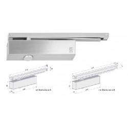 Ferme-porte à bras grande glissière réversible, en acier gris EN1154