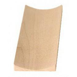 Bouton de porte rectangulaire concave 50X150 mm façon hêtre