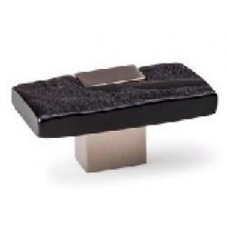 Bouton de meuble BAMBU noir chromé 60X30