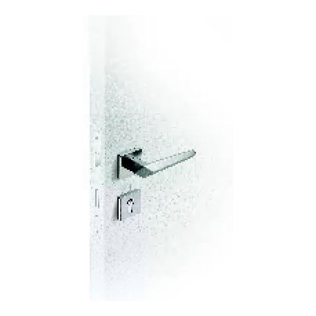 Poignées de porte SATA à trou de clé, satinée
