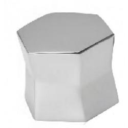 Bouton de meuble hexagone hauteur 25 mm chromé