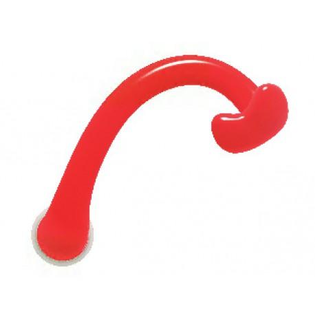 Poignée de porte ULNA INITIAL rouge