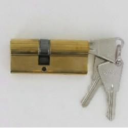 Cylindre de 80 mm (30x50) varié en laiton poli 3 clés laiton nickelé