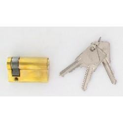 Demi-cylindre de 80 mm varié en laiton poli 3 clés laiton nickelé