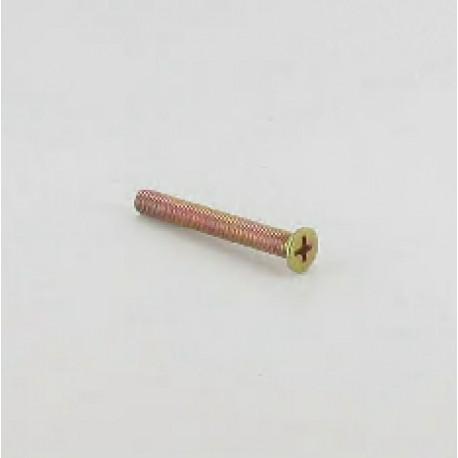 Vis métaux tête fraisée plate, M5x45 mm, pozidrive, finition bichromaté
