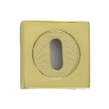 Rosaces STONE duo 50X50 mm à trou de clé L laiton poli
