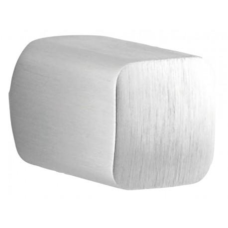 Bouton meuble oblongue BIN 15 mm chrome brossé X2