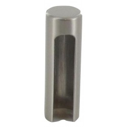 Demi cache-fiche D. externe 15,2/ interne 14, 48mm de hauteur, finition satinée