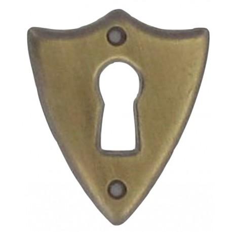 Entrée de meuble ecusson rustique vieux bronze