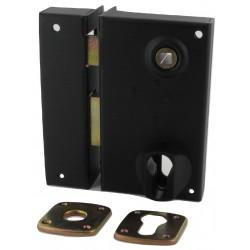 Sûreté horiz+gâche noire fouill 6mm cylindre à part 30+50mm à droite
