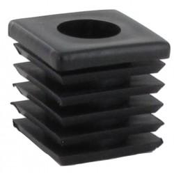 Capuchon noir du haut 4 coins 40X40X40 mm x2