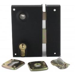Sûreté de portillon trou de cylindre fouillot de 7 mm, noire G