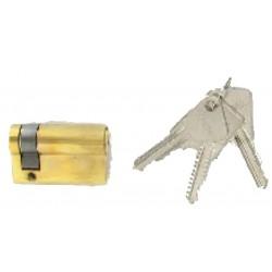 Demi-cylindre de 60 mm varié en laiton poli 3 clés laiton nickelé