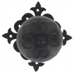 Boule de porte rustique D70 acier noire