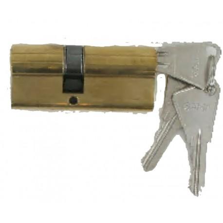 Cylindre de 80 mm (35x45) varié, en laiton poli 3 clés laiton nickelé