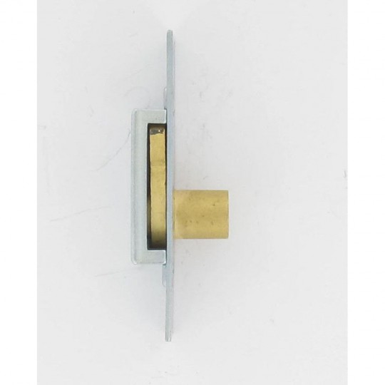 Batteuse en applique 90X25 mm fouillot 6X6 mm zingué blanc