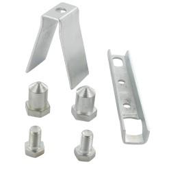 Kit acier zingué pivot pour portail 6 pièces