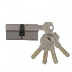 CYLINDRE HAUTE SECURITE 60 MM CHROME SATINE VARIE