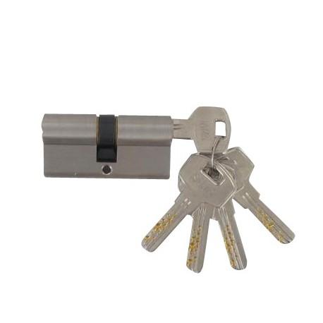 Cylindre Haute-Sécurité de 60 mm (30x30) varié laiton chromé satiné 5 clés